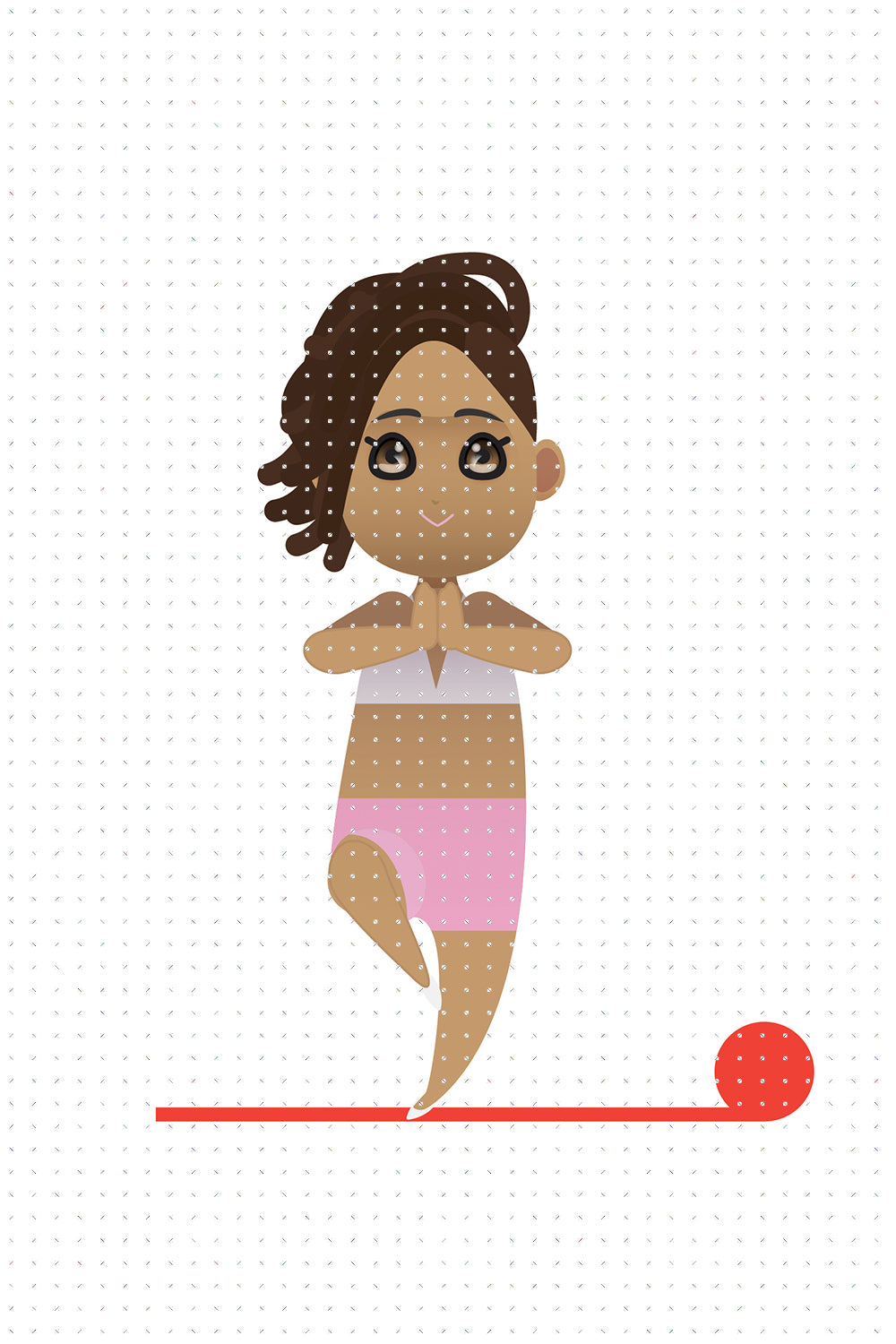 FREE African American woman on her yoga workout PNG clipart instant download for Personal Use