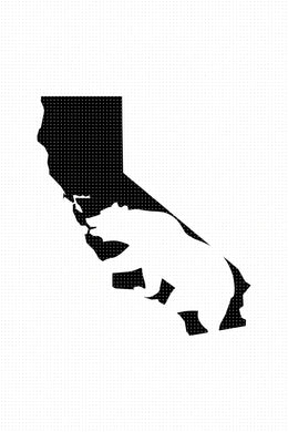 Free for Personal Use California Bear SVG, PNG, DXF, clipart, EPS, vector cut file instant download