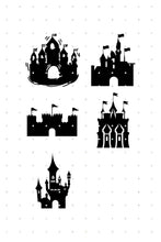 Load image into Gallery viewer, castle SVG file, DXF, clipart, eps, vector cut file for cricut and silhouette