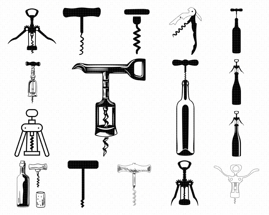 corkscrew svg, dxf, vector, eps, clipart, cricut, download