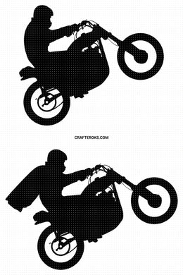 Free dirt bike SVG, stunt bike PNG, DXF, clipart, EPS, vector cut file instant download for personal use