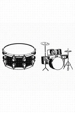 FREE drums and drum set for Personal Use SVG, PNG clipart, DXF, clipart, EPS, vector cut file instant download