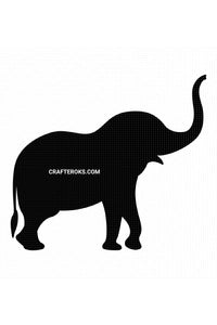 free elephant silhouette SVG, PNG, DXF, clipart, EPS, vector cut file instant download