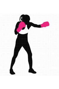 FREE breast cancer female boxer for Personal Use SVG, PNG clipart, DXF, clipart, EPS, vector cut file instant download