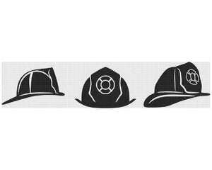 fireman's hat SVG file, DXF, clipart, eps, vector cut file for cricut and silhouette