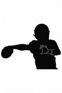 FREE football silhouette SVG, PNG, DXF, clipart, EPS, vector cut file instant download