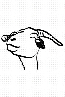 FREE cute goat face for Personal Use SVG, PNG clipart, DXF, clipart, EPS, vector cut file instant download
