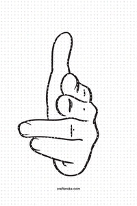 FREE finger hand gun sign SVG, PNG, DXF, clipart, EPS, vector cut file instant download