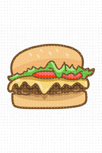 FREE cheeseburger for Personal Use SVG, hamburger PNG clipart, DXF, clipart, EPS, vector cut file instant download