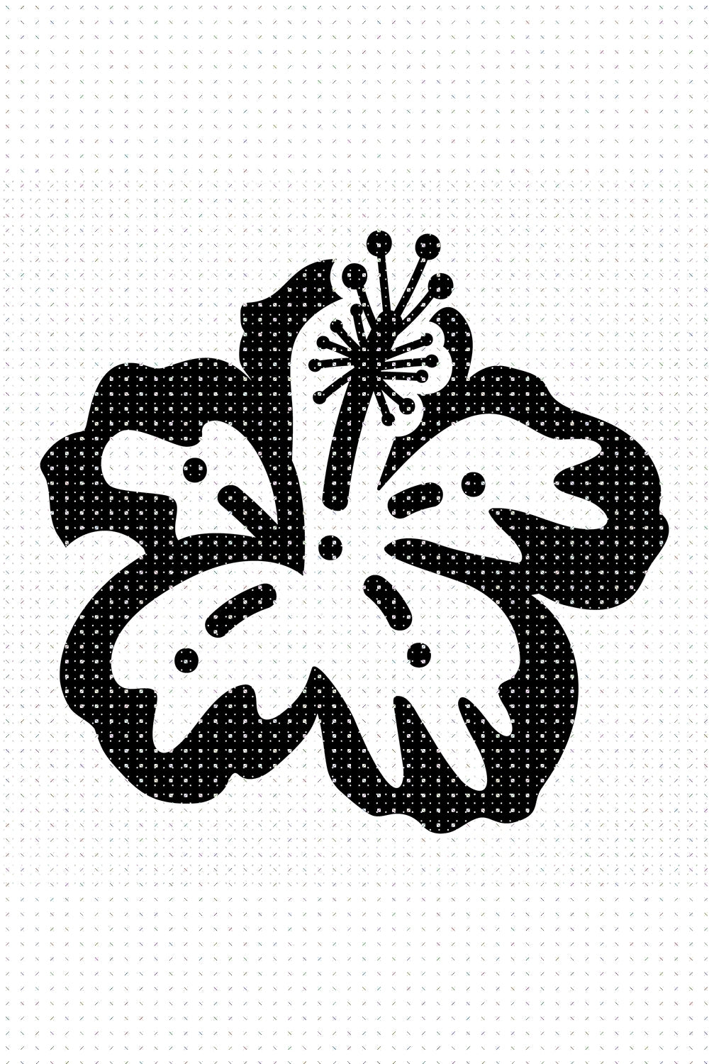 FREE Hibiscus Flower Plant SVG for Personal Use