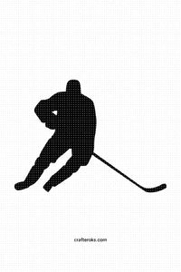 FREE hockey player for Personal Use SVG, PNG clipart, DXF, clipart, EPS, vector cut file instant download