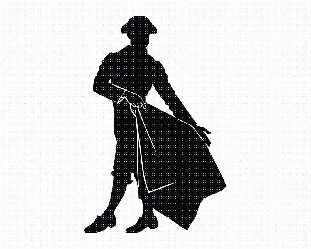 FREE matador silhouette SVG file, DXF, free SVG cut file instant download for cricut and other uses