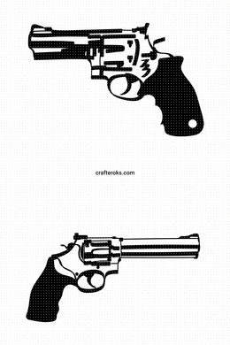 revolver SVG, gun PNG, DXF, clipart, EPS, vector cut file instant download