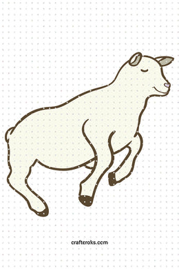 FREE sheep SVG, cute PNG clipart, DXF, clipart, EPS, vector cut file instant download