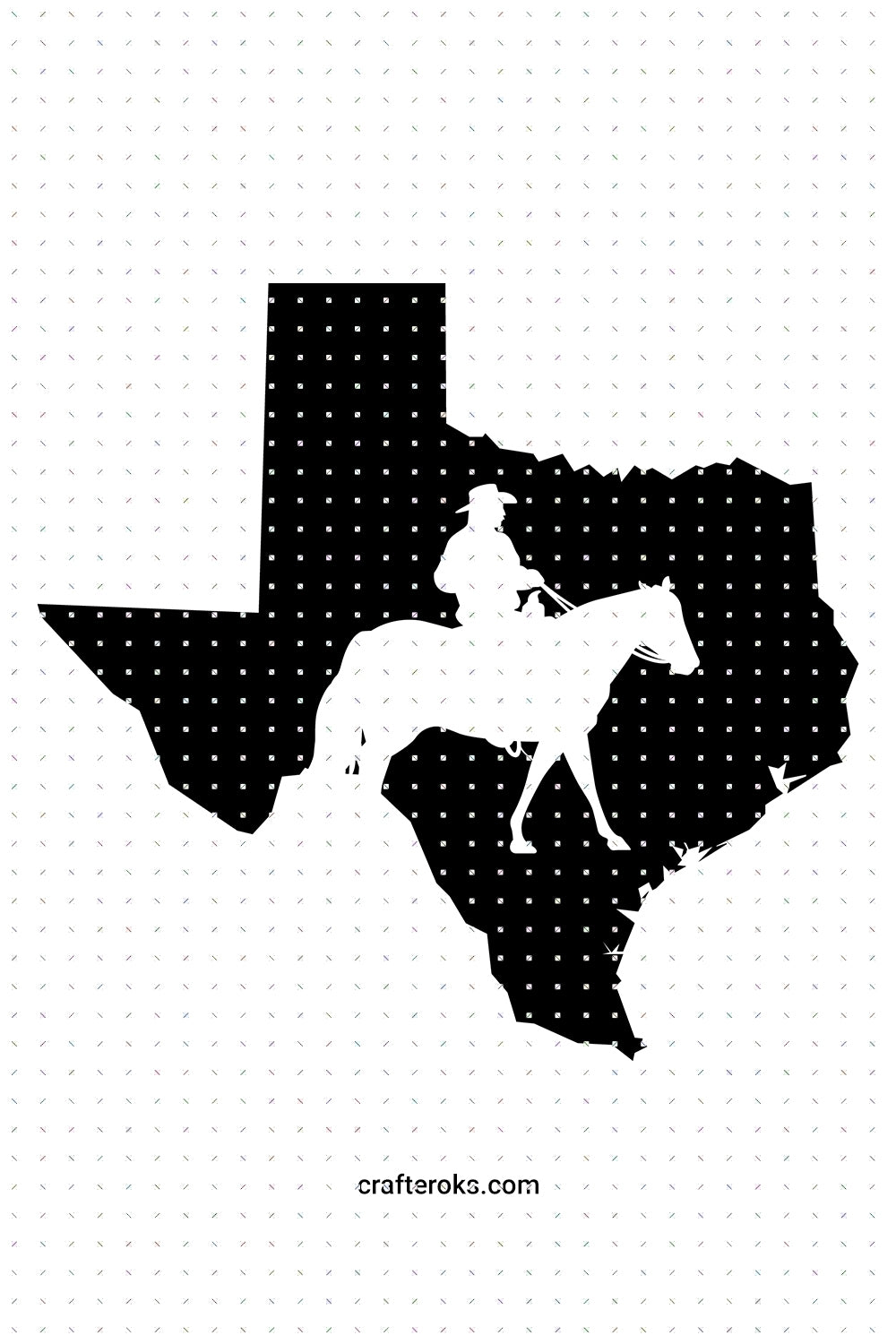 FREE texas map cowboy overlay for Personal Use SVG, PNG clipart, DXF, clipart, EPS, vector cut file instant download