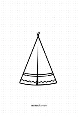 FREE tipi SVG, teepee PNG, native american tent DXF, clipart, EPS, vector cut file instant download