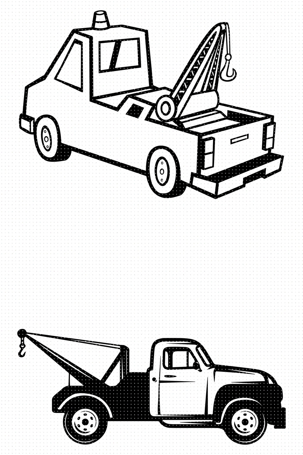 FREE tow truck for Personal Use SVG, PNG clipart, DXF, clipart, EPS, vector cut file instant download