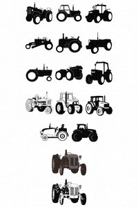 tractor SVG, PNG, DXF, clipart, EPS, vector cut file instant download
