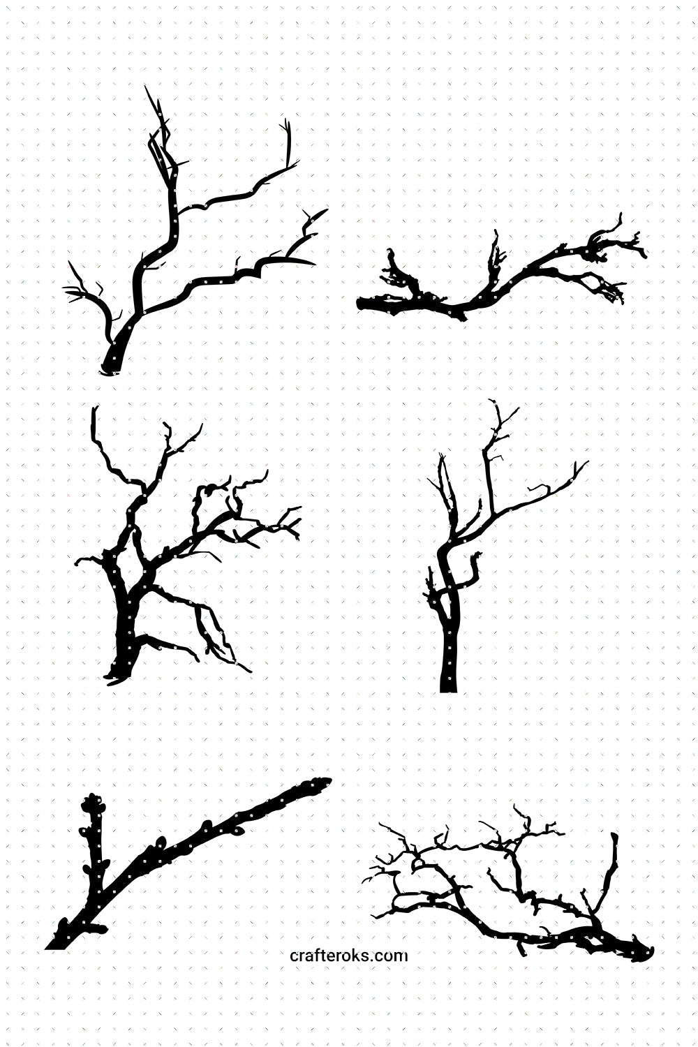 FREE tree branch SVG, PNG, DXF, clipart, EPS, vector cut file instant download for Personal Use