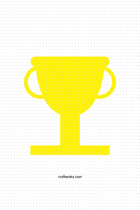 FREE trophy SVG, PNG clipart, DXF, clipart, EPS, vector cut file instant download