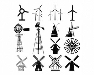 windmill svg, dxf, vector, eps, clipart, cricut, download