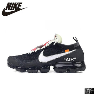 NIKE X Off White VaporMax 2.0 Authentic AIR MAX Breathable Men's Running Shoes Sport Outdoor Sneakers AA3831-001 EUR Size M