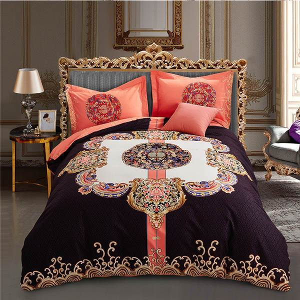 Bohemian Duvet Covers 4 Pieces Bedding Set with Comforter