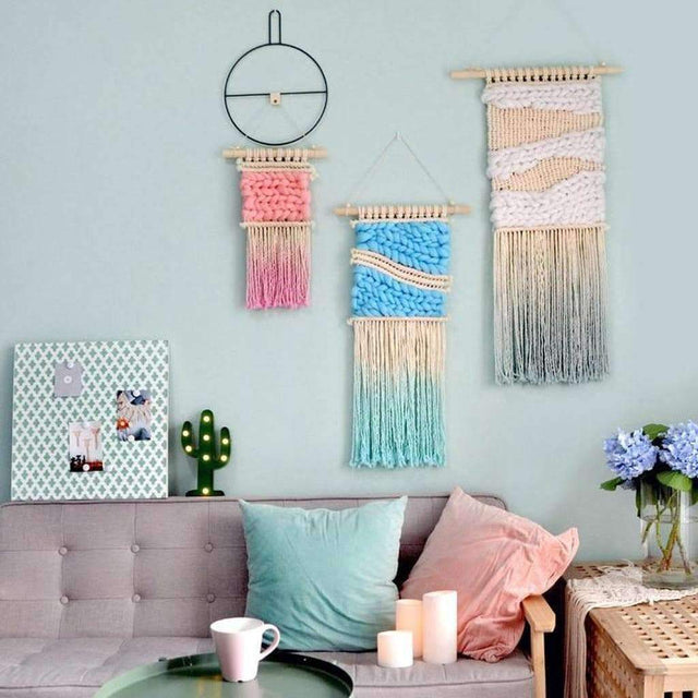 Candy Colored Macrame Wall Art - Luxsear Décors