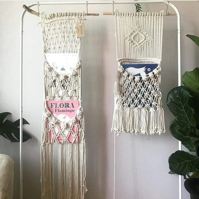 Decorative Bohemian Style Knitted Bag Macrame
