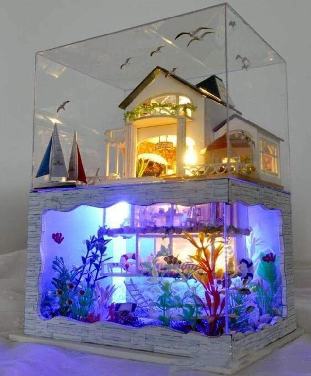 Dollhouse with Lights & Dust Cover - Luxsear Décors