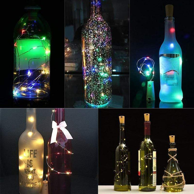 Fairy Bottle Lights Wine