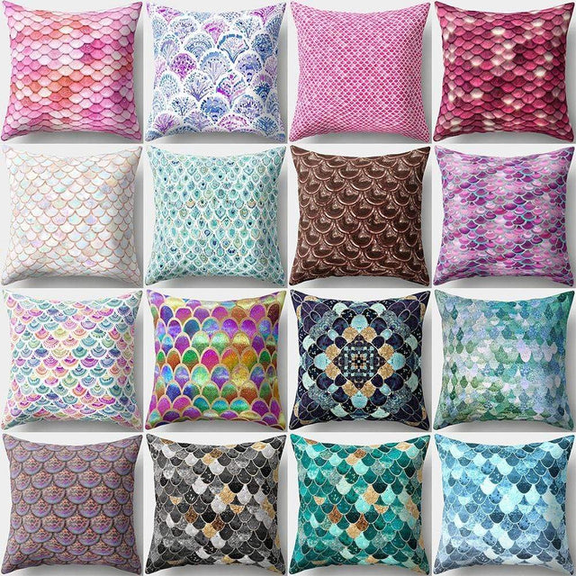 Moroccan Home Decor Fish Scale Pillows & Cushion Covers