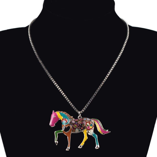 Horse Choker Necklace Animal Pendant Necklaces