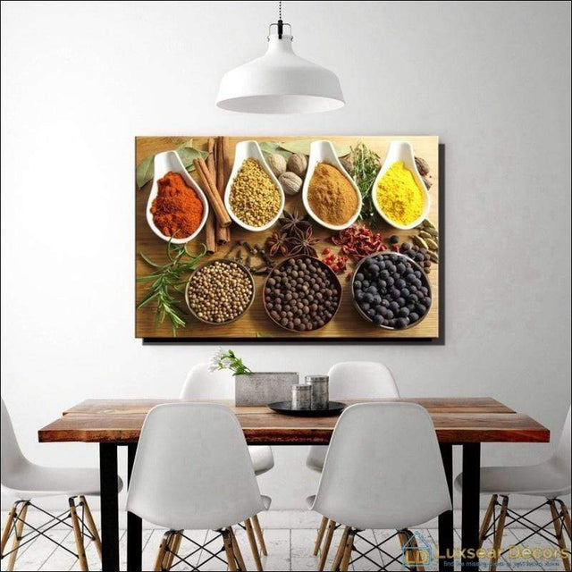 Indian Spice N Spoon Canvas Art Painting
