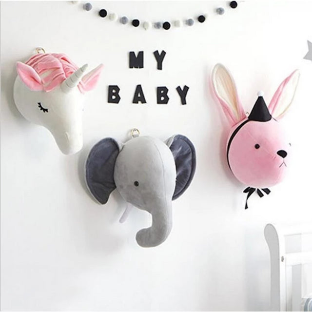 Kids and Nursery Room Elephant Pillow Bunny Pillow Unicorn Pillow