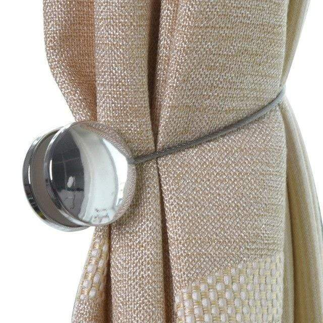 Magnetic Window Curtains Accessories Silver Curtain Ties & Tie Backs
