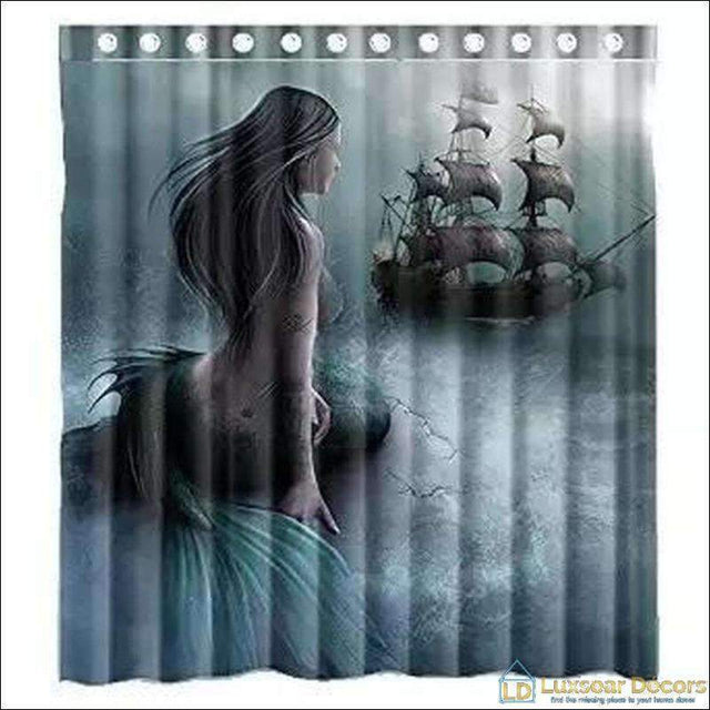 Mermaid Print Shower Curtain - Luxsear Décors