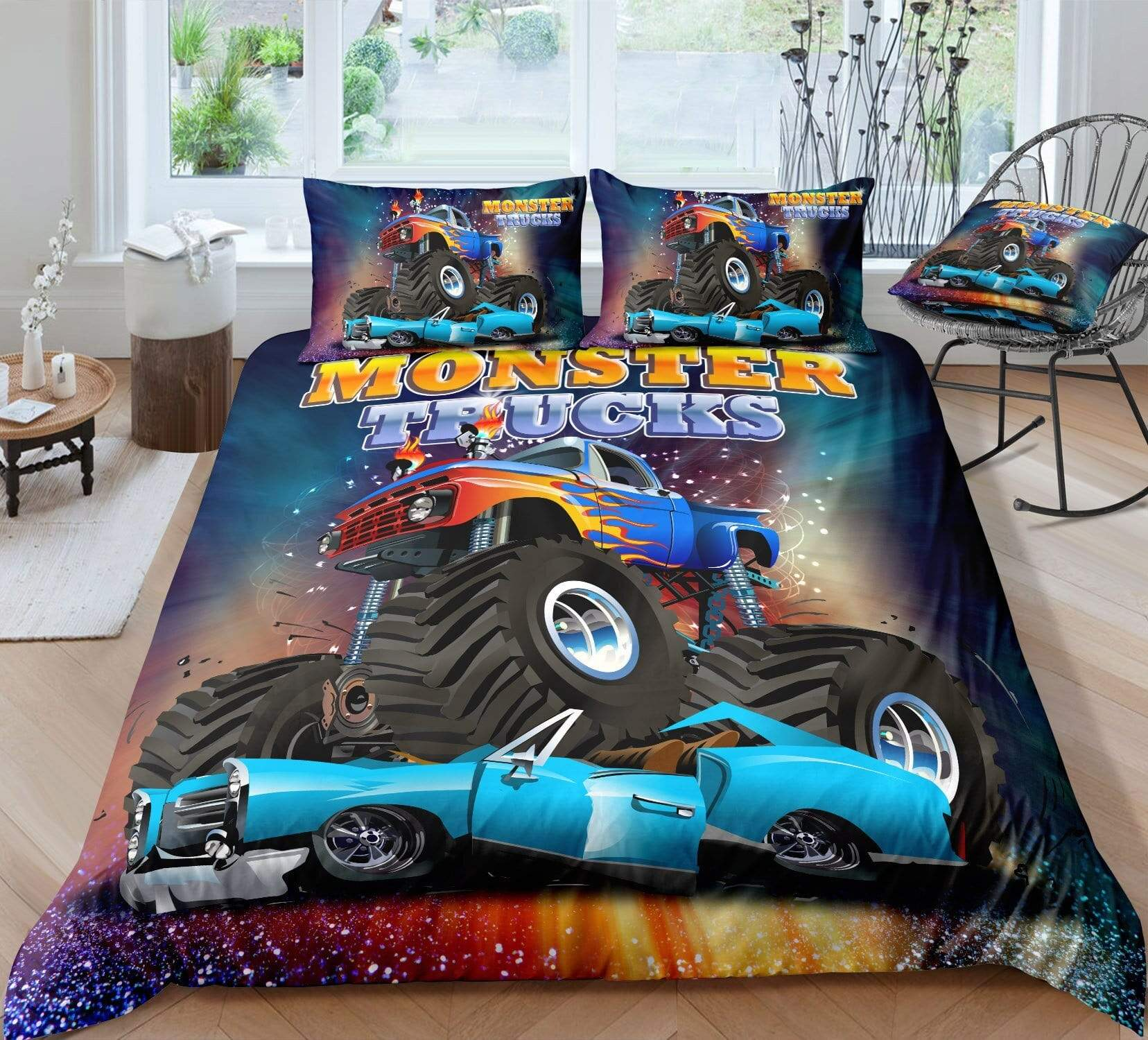 Monster Truck for Kids Boys Bedding