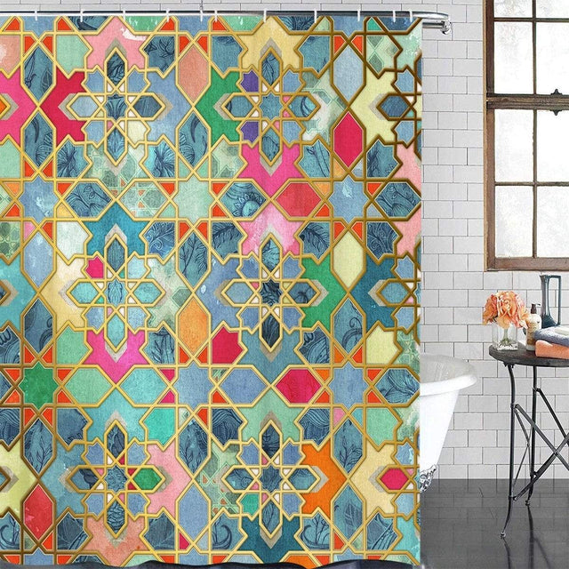 Moroccan Wall Mart Shower Curtains