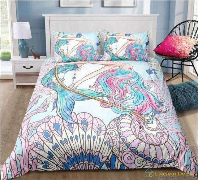 Ocean Theme Mermaid Bedding - Luxsear Décors