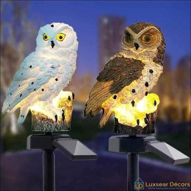 Owl Lights LED Garden Solar Lights - Luxsear Décors