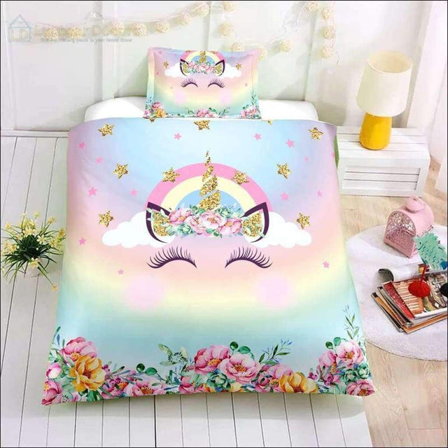 Pastel Unicorn Bedding Set - Luxsear Décors