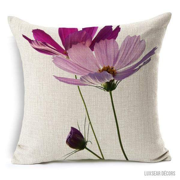 Pink & Purple Floral Cushion Covers 3