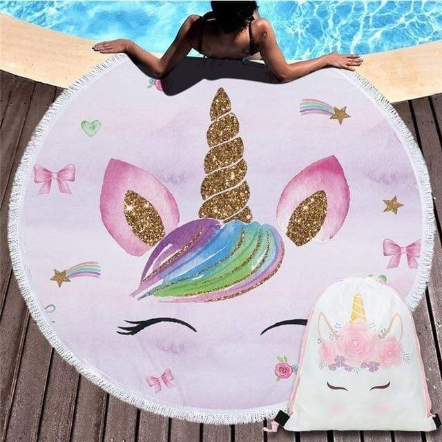 Unicorn Round Beach Towels