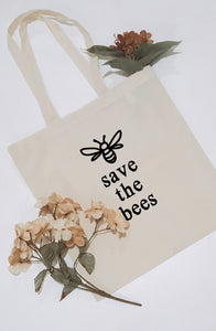 Save the Bees Canvas Tote