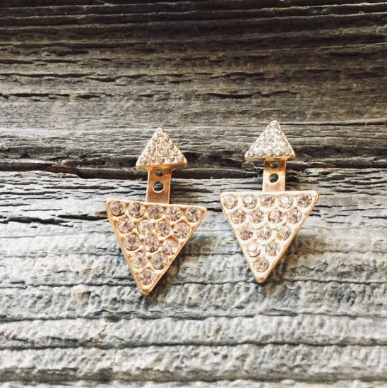 Triangle Glitter Earring