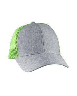 Light Grey & Neon Green Trucker