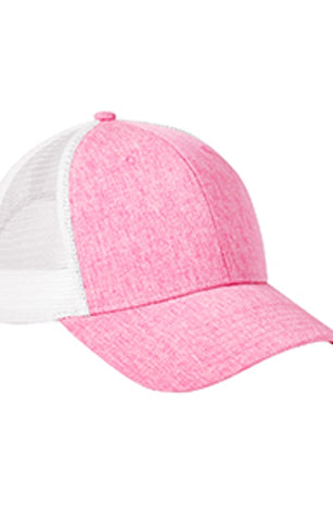 Heather Pink Trucker