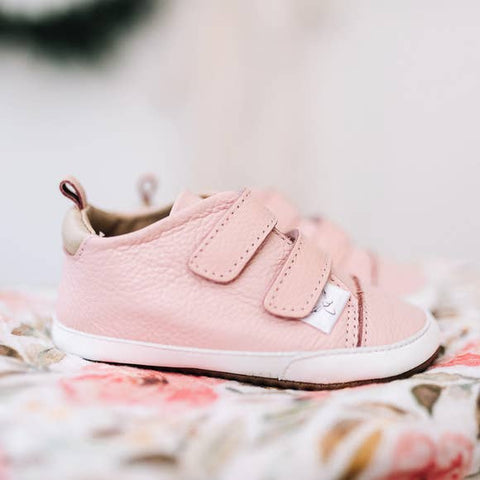 Pink Velcro Low Top
