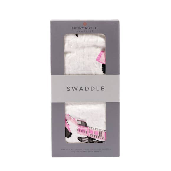 Pink Digger Swaddle